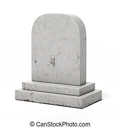 vuoto, pietra tombale