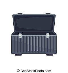 vuoto, scatola, attrezzi, colorito, disegno, icona