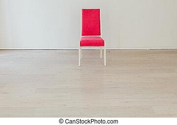 vuoto, sedia, bianco, interno, stanza, rosa