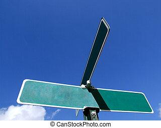 vuoto, segnale stradale, -, annuncio