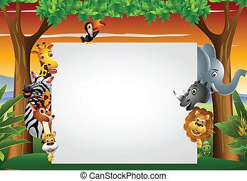 vuoto, selvatico, segno, animale, africano