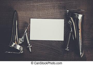 vuoto, speculums, quaderno, metallo, vaginale