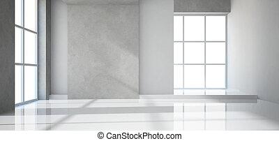 vuoto, stanza moderna