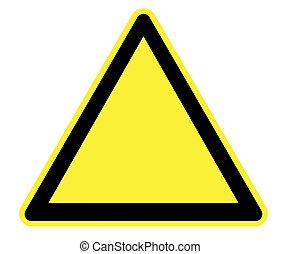 vuoto, triangolo, azzardo, pericolo