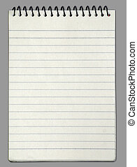 vuoto, uno, faccia, bianco, carta, quaderno, verticale
