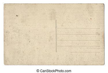 vuoto, vecchio, isolato, cartolina, bianco