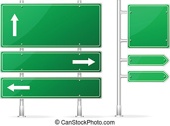 vuoto, vettore, verde, segno strada