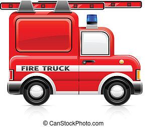 vuren truck, rood