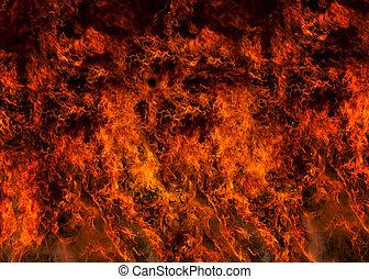 vuren vensterraam, het vlammen, volle