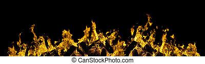 vurig, black , vlammen, brandend
