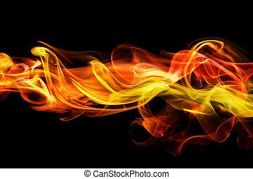 vurig, rook, achtergrond