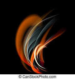 vuur, abstract, vlam, achtergrond, branden
