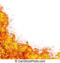 vuur, abstract, vlammen, achtergrond
