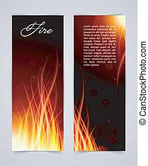 vuur, achtergrond, gloed