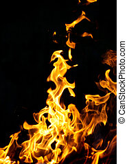 vuur, black , vlam, achtergrond