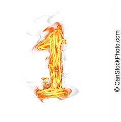 vuur, getal