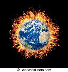 vuur globe af