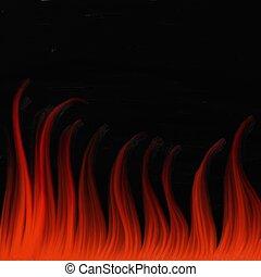 vuur, het vlammen