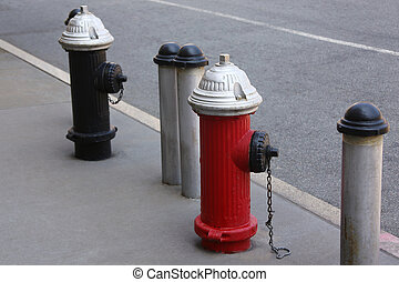 vuur hydrants, in, new york stad