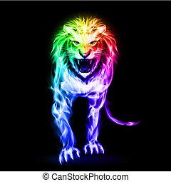 vuur, leeuw, spectrum