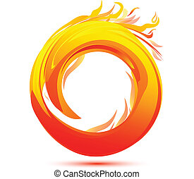 vuur, logo, abstract, vlammen