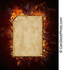 vuur, papier