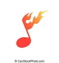 vuur, symbool, muziek