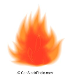 vuur, vector, symbool