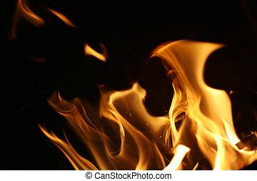 vuur, vlammen, achtergrond, textuur