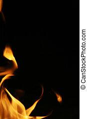 vuur, vlammen, grens, achtergrond, texture.