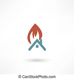 vuur, waarschuwend