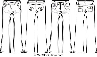 vuurpijl, denim jeans, magere