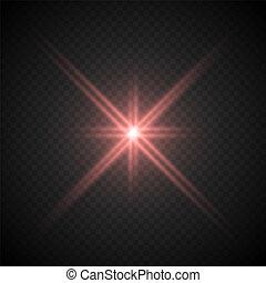 vuurpijl, lense, effect, licht