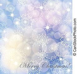 vuurwerk, eps10, snowflakes, achtergrond, witte kerst