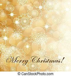vuurwerk, eps10, snowflakes, goud, achtergrond, witte kerst