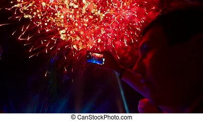 vuurwerk, feestelijk