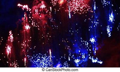 vuurwerk, kleurrijke, display