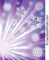vuurwerk, snowflakes