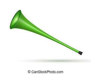 Vuvuzela trumpet football fan. Soccer vector sport play fan symbol with vuvuzela or trumpet design