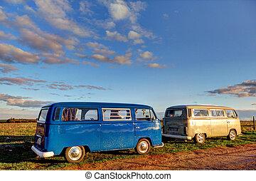 VW Camper van in Wiltshire, England