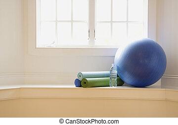 vybavení, cvičit