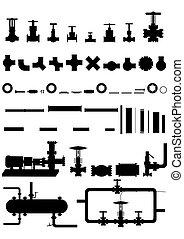 vybavení, nafta, rozhodčí, zařízení