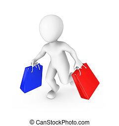 vydat, nakupování, národ., prodej, ilustrace, malý, concept., 3