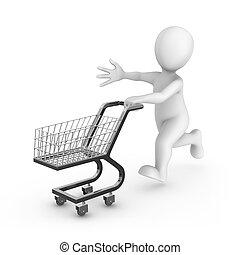 vydat, nakupování, osamocený, kára, grafické pozadí, neposkvrněný, voják, 3