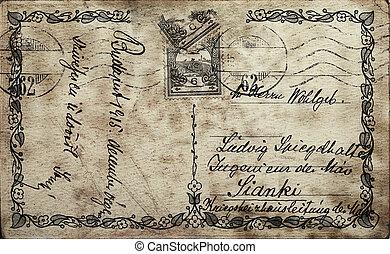 vykort, årgång
