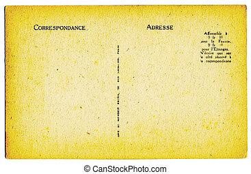 vykort, årgång, fransk