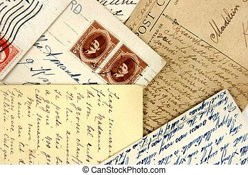 vykort, arabiska, frimärken