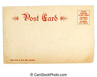 vykort, gammal, usa