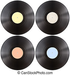 vynil gramophone record disk isolated - vynil gramophone...