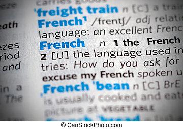vzkaz, francouzština, slovník